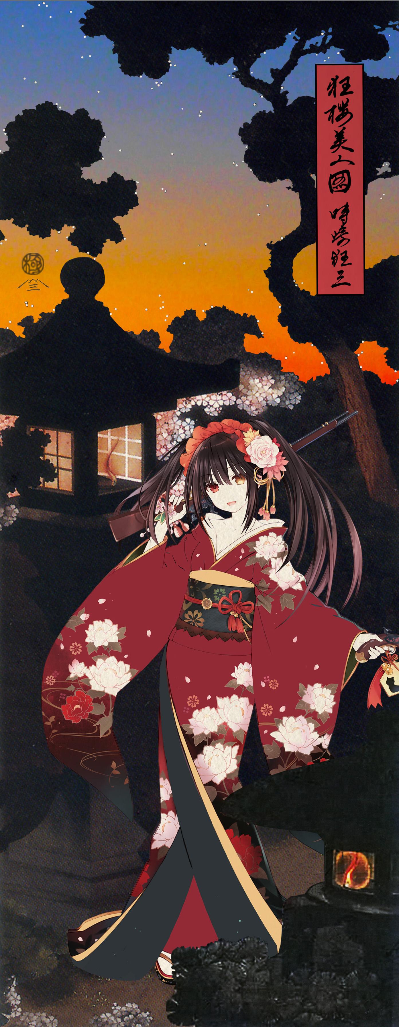 『デート・ア・ライブ』浮世絵木版画『狂桜美人図 時崎狂三』(二次受注分)