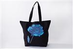 Yas ビッグトートバッグ Blue rose ブラック