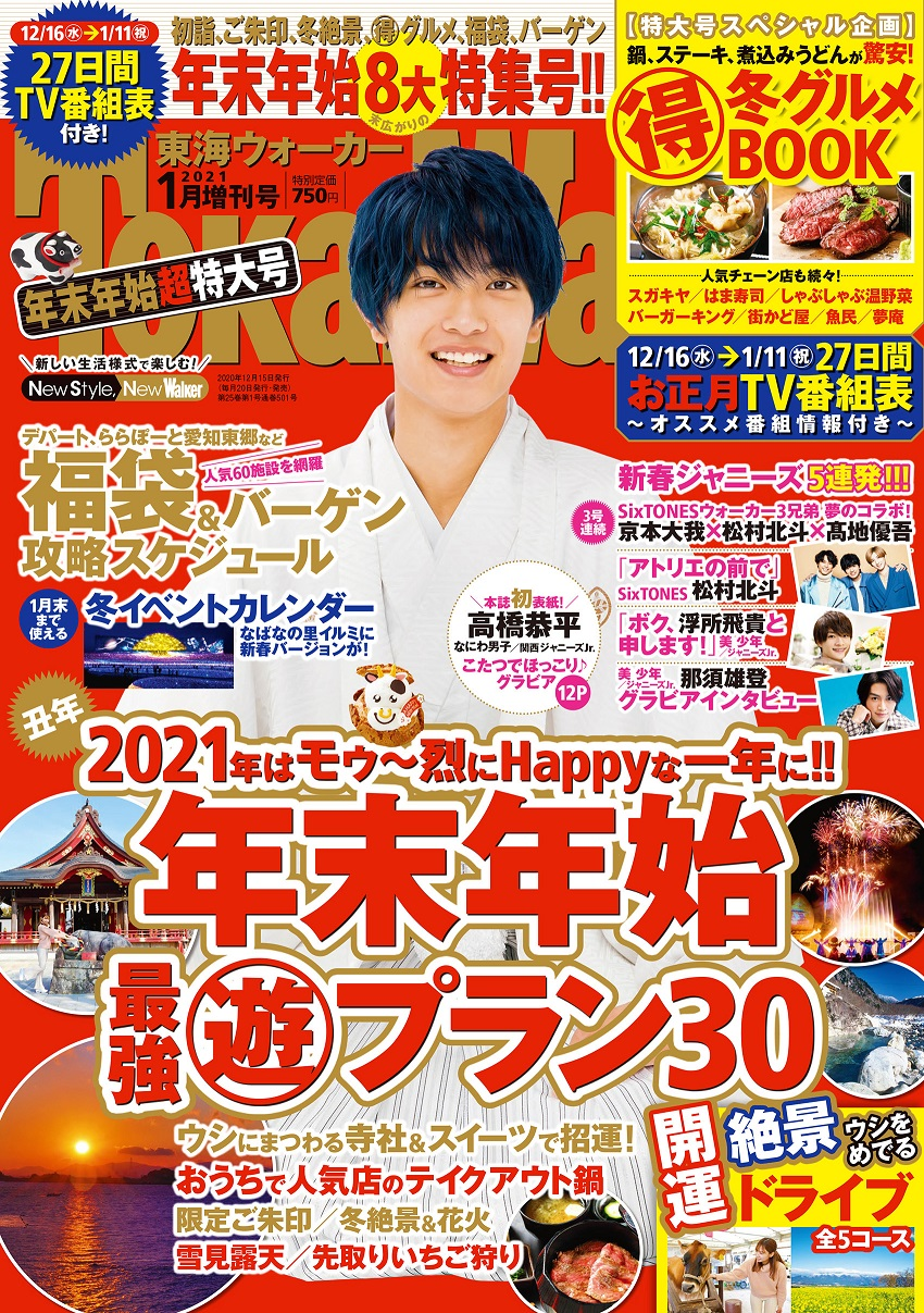 東海ウォーカー2021年1月増刊号 750円